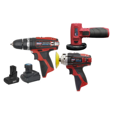 Sealey SV12 Series 3 x 12V Cordless Power Tool Combo Kit