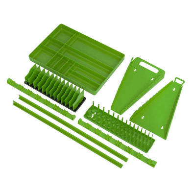 Sealey Premier Tool Storage Organizer Set 9pc - Hi-Vis Green