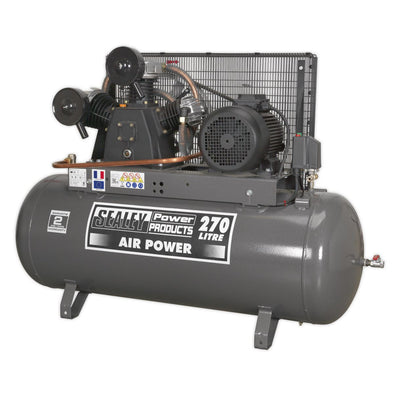 Sealey Premier Compressor 270L Belt Drive 7.5hp 3ph