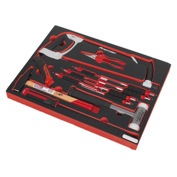 Sealey Premier Tool Tray with Hacksaw, Hammers & Punches 13pc