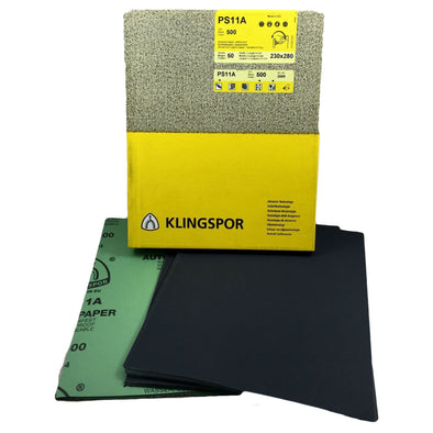 Klingspor Wet and Dry Sanding Sheets PS11A and PS11C