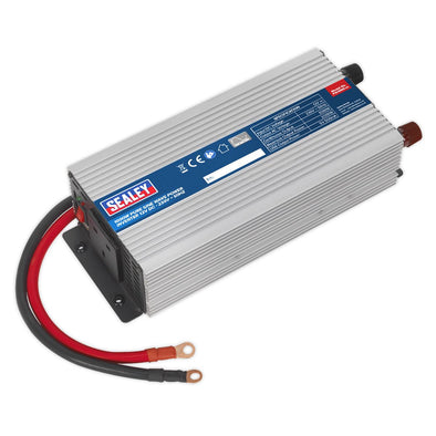 Sealey Power Inverter Pure Sine Wave 1000W 12V DC - 230V 50Hz