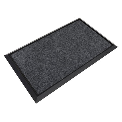 Sealey Rubber Disinfection Mat With Removable Polyester Carpet 450 x 750mm