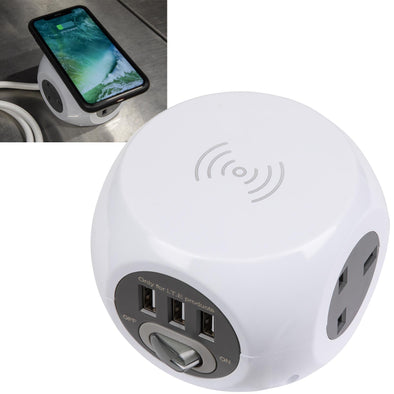 Sealey Extension Cable Cube 1.4m 3 x 230V 3 x USB Sockets and Wireless Charging Pad