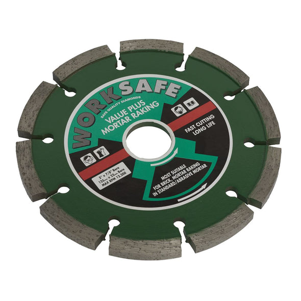 Worksafe by Sealey Value Plus Diamond Blade Ø125 x 22mm