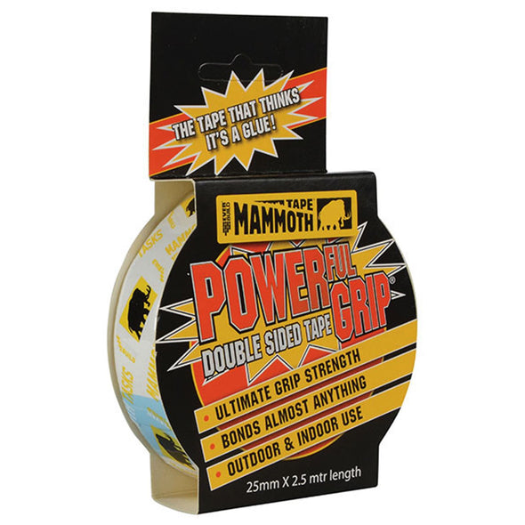 EverBuild 25mm x 2.5m Mammoth Powerful Grip Double Sided Tape
