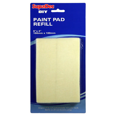 SupaDec DIY 150mm x 100mm Paint Pad Refill