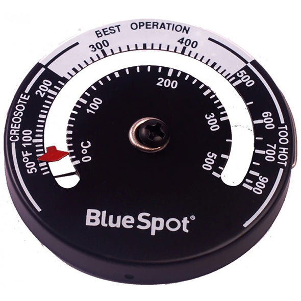 BlueSpot Stove Pipe Thermometer for Wood Log Burner