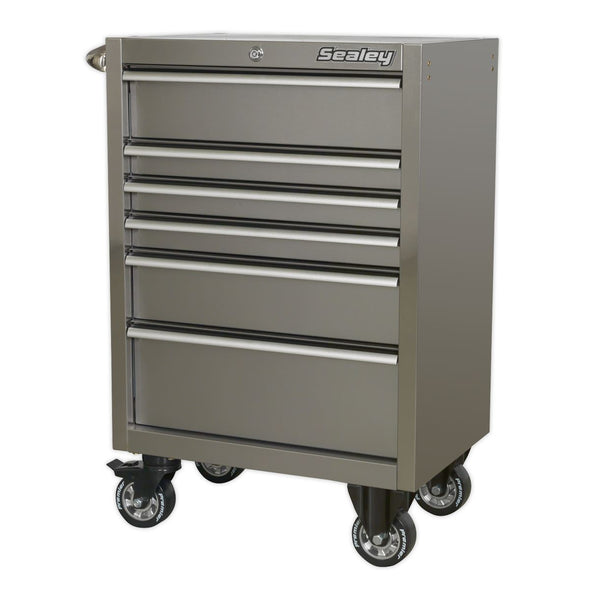 Sealey Premier Rollcab 6 Drawer 675mm Stainless Steel Heavy-Duty