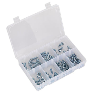 Sealey Socket Screw Assortment 108pc M5-M10 Button Head High Tensile 10.9 Metric