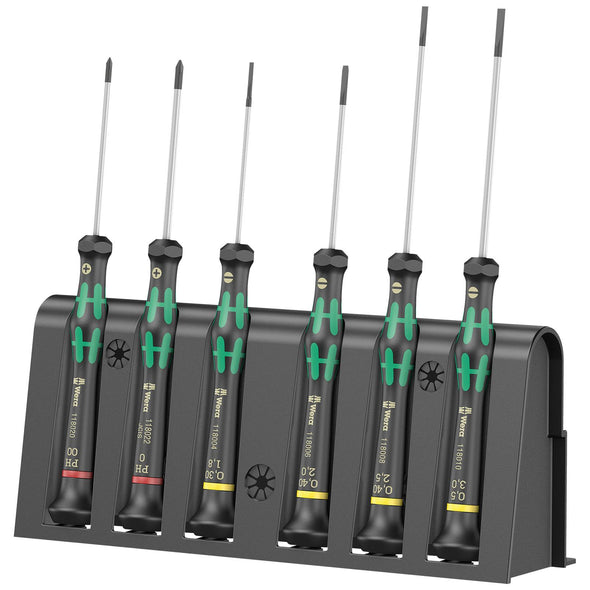 Wera Kraftform Micro Screwdriver Set 6 Piece Phillips Slotted 2035/6 A