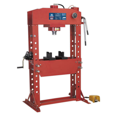 Sealey Premier Air/Hydraulic Press 75tonne Floor Type with Foot Pedal