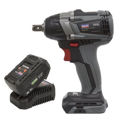 "Sealey Premier Brushless Impact Wrench Kit 1/2""Sq Drive 20V 300Nm 4Ah"