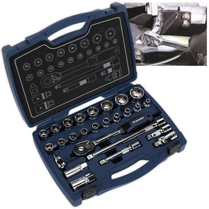 "Sealey Premier 26 Piece 1/2"" Drive Metric Socket Set 8-32mm"