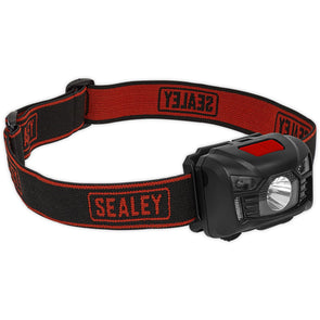 Sealey 3W CREE XPE LED Rechargeable Head Torch with Auto Sensor