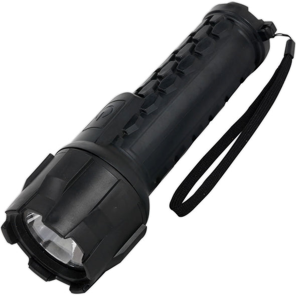 Sealey 3W Cree LED Rubber Waterproof Torch Light 120 Lumens Heavy Duty