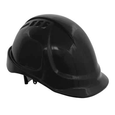 Worksafe by Sealey Plus Safety Helmet - Vented (Black)