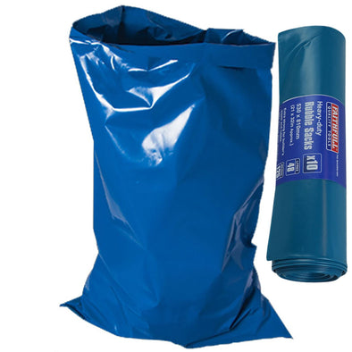 Faithfull 10 Pack Heavy Duty Rubble Bags 810mm x 530mm 125 Micron