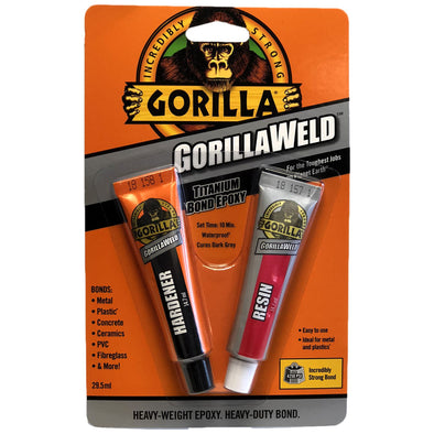 Gorilla 29.5ml GorillaWeld Heavy Duty Titanium Bond Epoxy 2 Part Glue