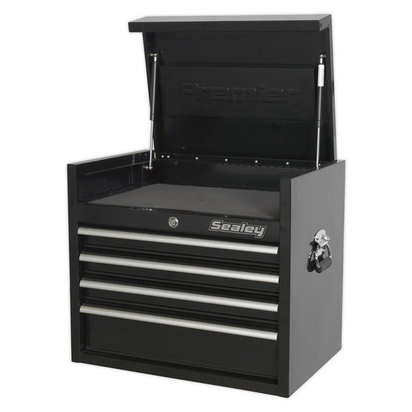 Sealey Premier Topchest 4 Drawer 660mm Heavy-Duty Black