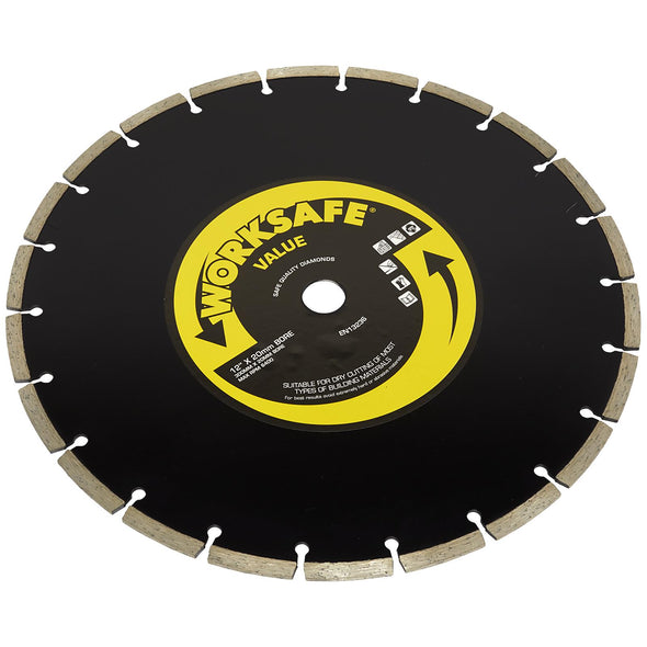 Worksafe by Sealey Diamond Cutting Blade 300mm x 20mm Bore Value