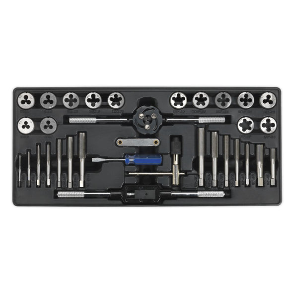 Sealey Premier Tool Tray with Tap & Die Set 33pc