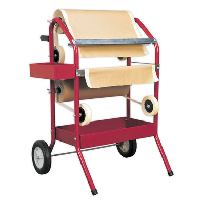 Sealey Masking Paper Dispenser 2 x 450mm Trolley
