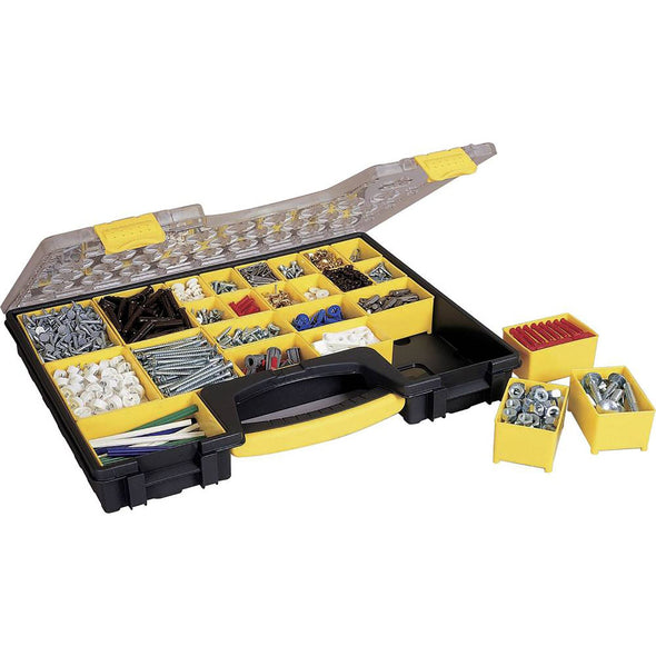 Stanley Professional Shallow Organiser Tool Box Accessory Storage Case 42.3 x 33.4 x 5.2cm