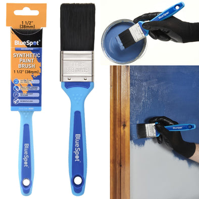 "BlueSpot Synthetic Paint Brush with Soft Grip Handle 38mm (1 1/2"")"
