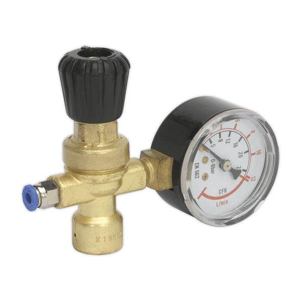 Sealey MIG Gas Regulator Disposable Cylinder 1 Gauge