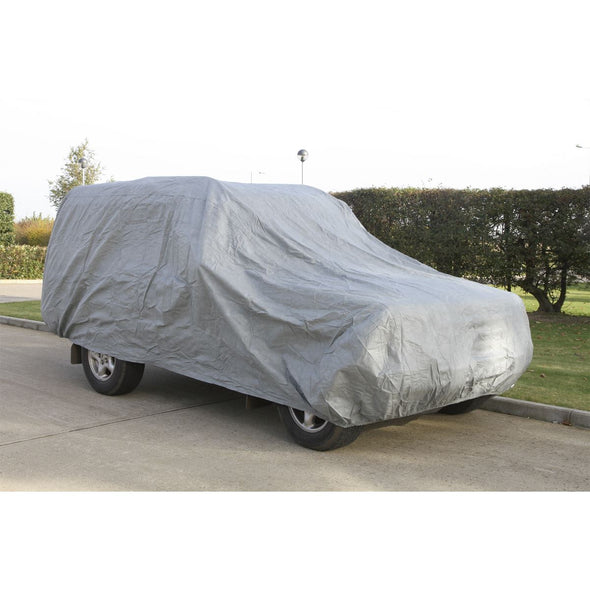 Sealey Premier All Seasons Car Cover 3-Layer - Large