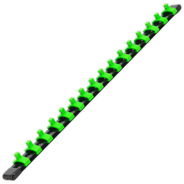Sealey Premier High Visibilty Green Socket Retaining Rail With 16 Clips