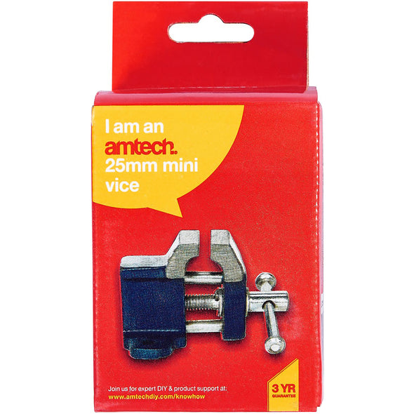Amtech 25mm Cast Iron Mini Baby Vice