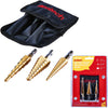 Amtech 3 Piece Imperial HSS Step Drill Bit Set
