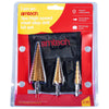 Amtech 3 Piece Metric HSS Step Drill Set