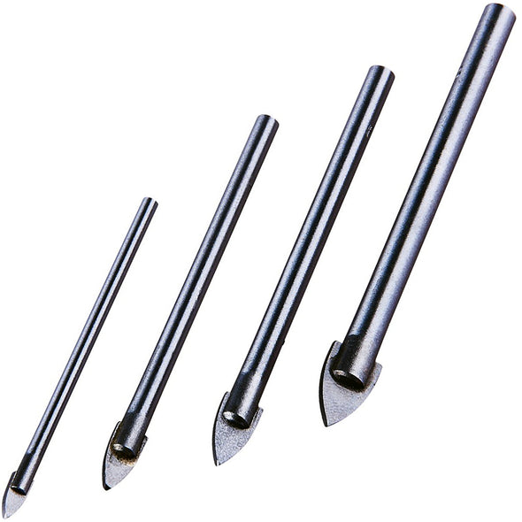 Amtech 4 Piece Glass and Mirror Drill Bit Set 3-8mm