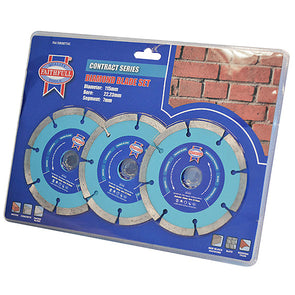 Faithfull 3 Pack 115mm Diamond Cutting Blades