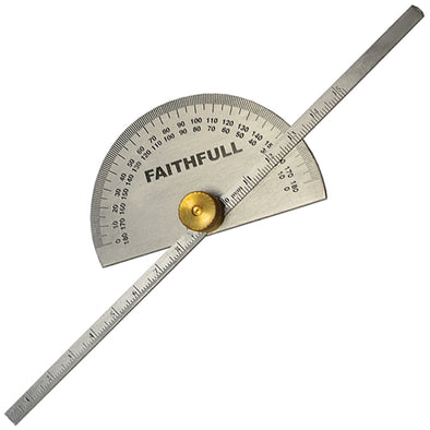 Faithfull 150mm Depth Gauge with Protractor