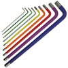 Faithfull 9 Piece Long Reach Coloured Hex Key Set 1.5-10mm