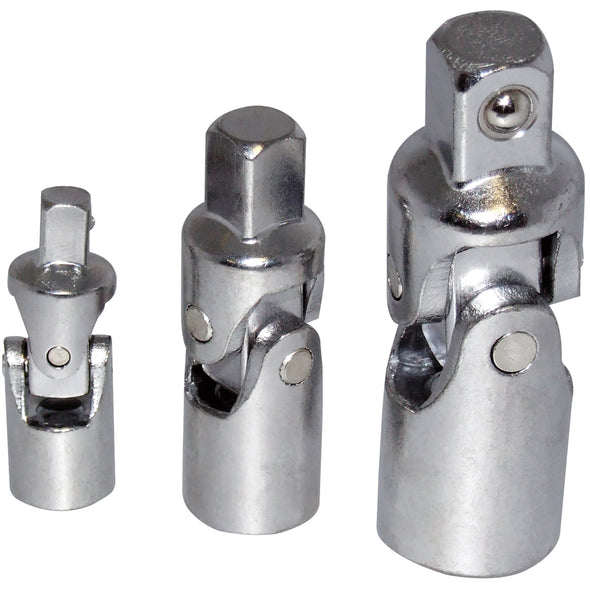 "Amtech 3 Piece Universal Joint Set 1/4"" 3/8"" 1/2"" Drive"