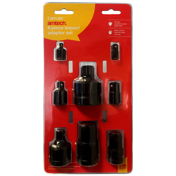 Amtech 8 Piece Impact Socket Adaptor Set