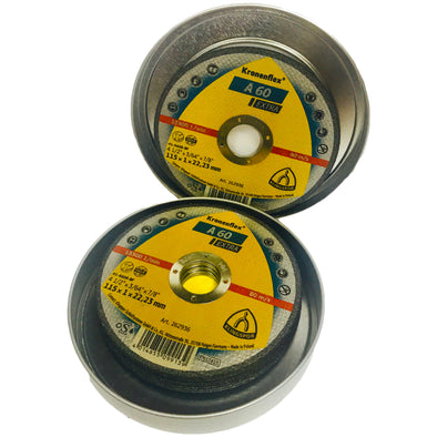 Klingspor 10 Pack A60 Extra 115 x 1mm Stainless Steel Cutting Discs Tinned