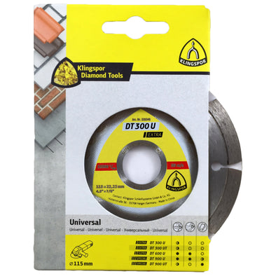 Klingspor DT300U Extra Diamond Cutting Blades for Angle Grinder