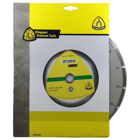 "Klingspor DT300U 300mm 12"" Professional Diamond Cutting Blade"