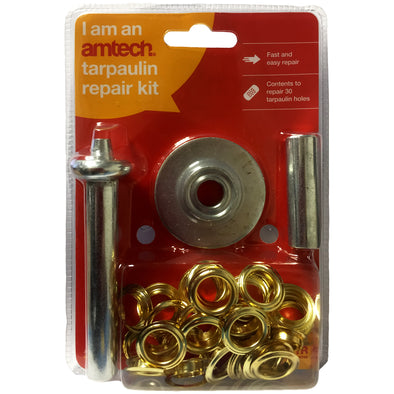 Amtech 63 Piece Tarpaulin Eyelet Repair Kit