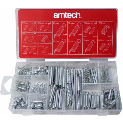 Amtech 150 Piece Spring Set Assortment Extended and Compressed