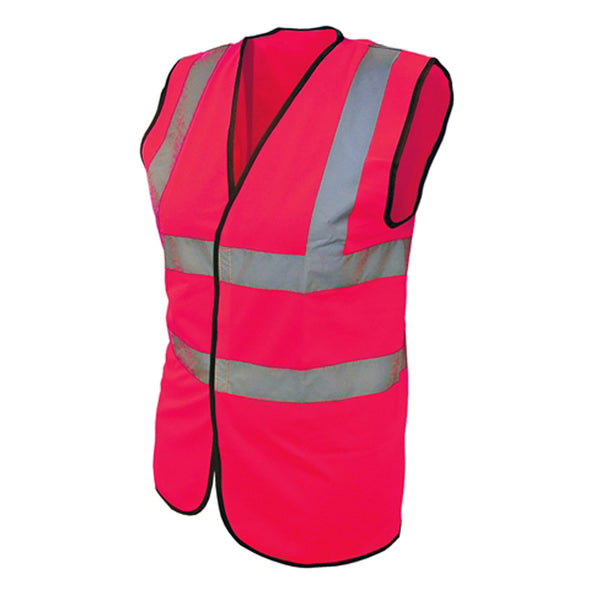 Scan Pink High Visibility Safety Waistcoat Vest