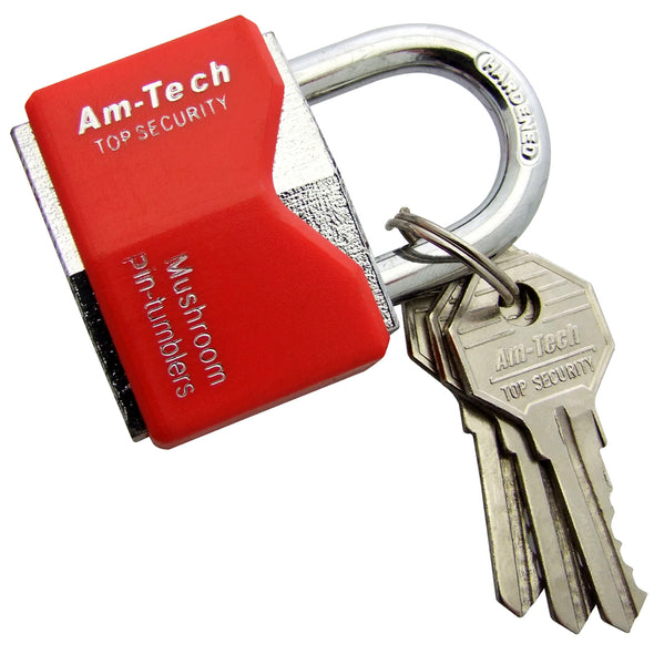Amtech Rhombic Chrome Plated Padlock With Plastic Cover