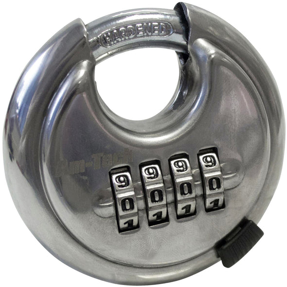 Amtech 70mm 4 Digit Combination Security Disc Padlock