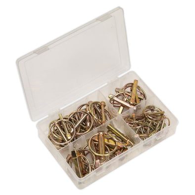 Sealey Linch Pin Assortment 50pc Metric